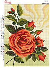 Вышивка бисером Улюблені троянди  №113