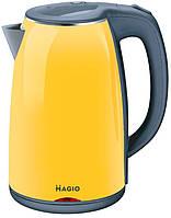 Желтый электрочайник MAGIO MG-976 1,7 л мощность 1800 Вт чайник-термос