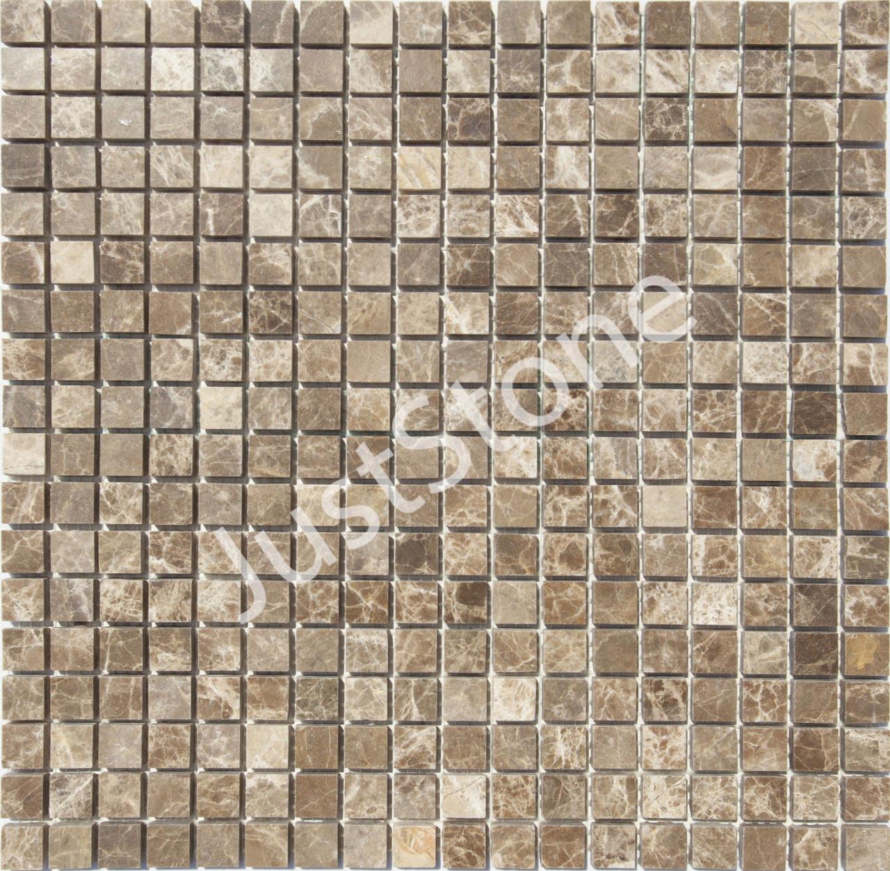Мраморная Мозаика Полированная МКР-4П (15x15) 6 мм Emperador Dark TR