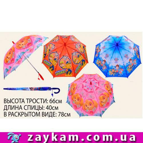 Зонт, 3 види, з малюнком, герої м/ф, в пак. 67 см