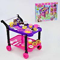 """Игровой набор """"Сладости"""" 36778-90 (24) с сервировочным столиком, продукты на липучках, в коробке"""