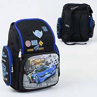 Рюкзак школьный С 36197 (30) 1 отделение, 3 кармана, спинка ортопедическая, 3D принт