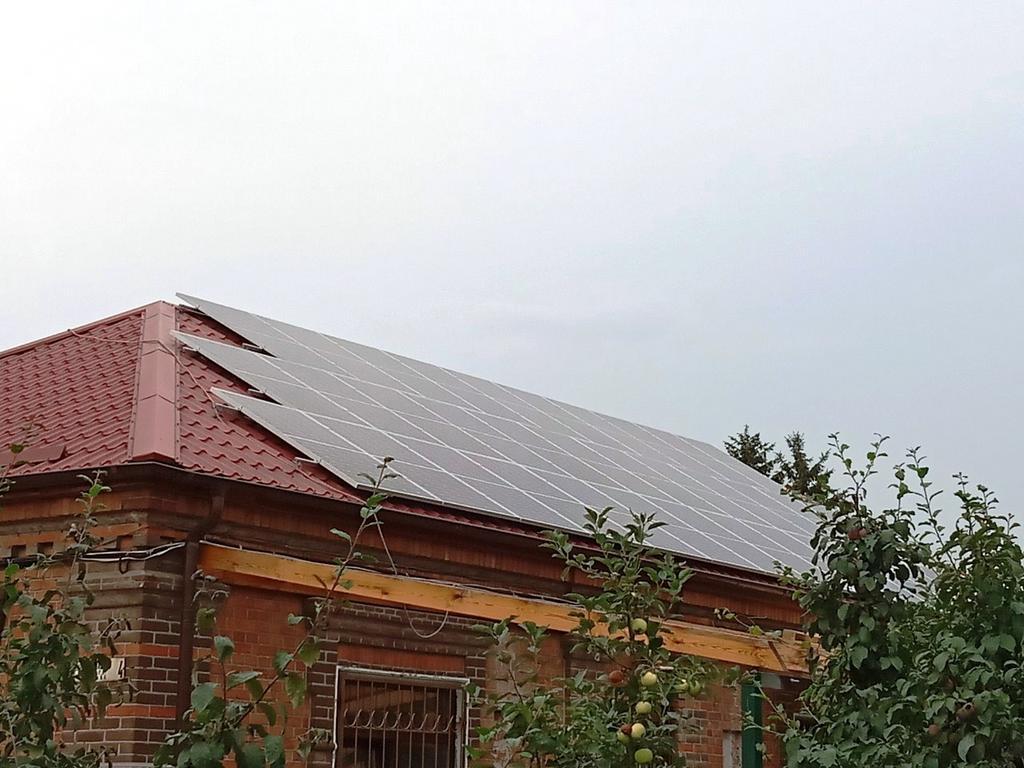 """Мариуполь солнечная электростанция под """"зеленый"""" тариф мощностью 12 кВт Risen + Trannergy Донецкая область"""