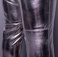 Ультрамодные женские брюки из металлизированной экокожи больших размеров с 48 по 82, фото 2