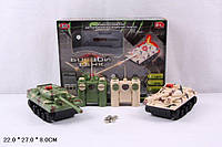 Танковый бой, р/у, свет, звук, на батарейках, в коробке