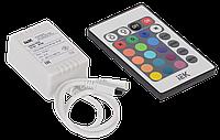 Контроллер с ПДУ ИК RGB 3 канала 12В, 2А, 72Вт IEK-eco