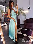 Длинное шелковое платье с верхом на запах и без рукава 66033285E, фото 2
