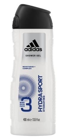 """Гель для душа мужской 3 в 1 Adidas """"Hydra Sport"""" (400мл.)"""