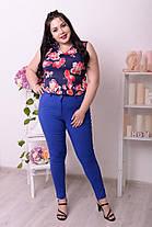 Летние молодёжные брюки со зрительной коррекцией фигуры батал с 48 по 82 размер, фото 2