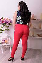 Летние молодёжные брюки со зрительной коррекцией фигуры батал с 48 по 82 размер, фото 3