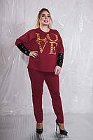 Оригинальный женский костюм в стиле спорт - шик с отделкой из пайеток с 48 по 98 размер