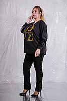 Модный женский костюм в стиле спорт - шик с отделкой из пайеток с 48 по 98 размер