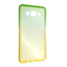 Чехол-накладка DK-Case силикон радуга градиент для SAMSUNG A500 (yellow/light green)