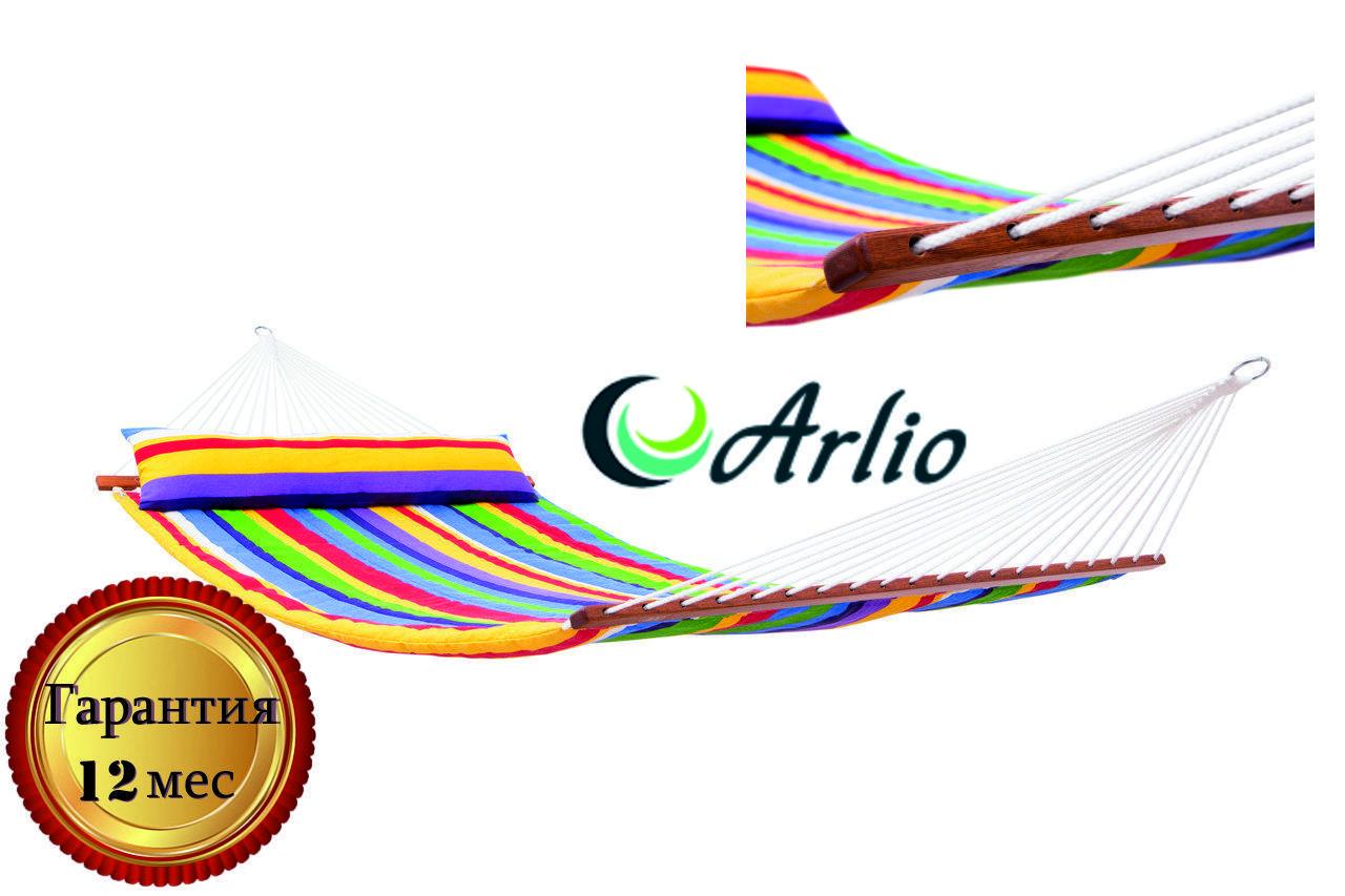 Гамак тканевый радужного цвета Arlio AMSTERDAM. Двухместный с планкой 3.2м х 1.2м