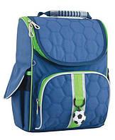 """Каркасный рюкзак для мальчика в школу с боковыми карманами ТМ """"1 ВЕРЕСНЯ"""" H-11 Football"""