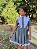 Платье школьное,ткань мадонна,размеры:122,128,134,140., фото 6