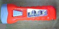 Фонарик аккумуляторный - солнечная панель и зарядка от сети 220 В., фото 1