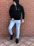 КАЧЕСТВО! UNDER ARMOUR | Мужской спортивный костюм. Чоловічий спортивний костюм | АНДЕР АРМОР (Черно-Серый), фото 4