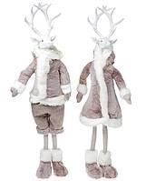 Новогодняя фигура Олень в пальто, 2 вида, 93см