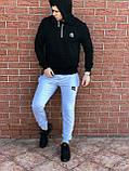 КАЧЕСТВО! REEBOK Classic | Мужской спортивный костюм. Чоловічий спортивний костюм | РИБОК, РІБОК (Черно-Серый), фото 4