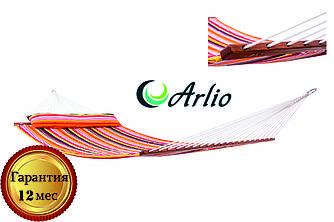 Гамак тканевый радужного цвета Arlio RIO. Двухместный с планкой 3.2м х 1.2м