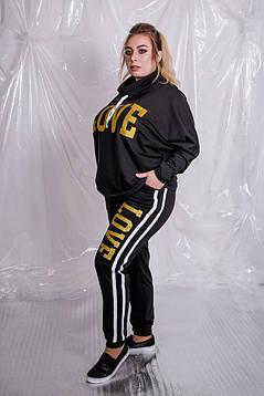 Удобный и невероятно женственный спортивный костюм в стиле спорт - шик батал с 48 по 98 размер, фото 2