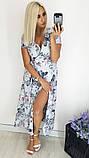 Модное женское летнее платье на запах,ткань батист,размеры:48,50,52,54., фото 2