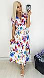 Модное женское летнее платье на запах,ткань батист,размеры:48,50,52,54., фото 6