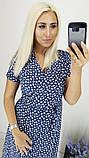 Модное женское летнее платье на запах,ткань батист,размеры:48,50,52,54., фото 9