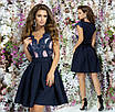 Платье вечернее красивое пышное гипюр+габардин 42,44,46, фото 3