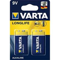 Батарейка Varta Longlife 9V 6LR61 *2 (04122101412)