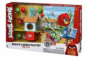 Jazwares Ігрова фігурка Angry Birds ANB Medium Playset (Pig City Build 'n Launch Playset)