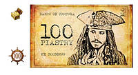 Пиратские пиастры бумажные 100