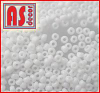 Бисер Чехия 03050  - 50 грамм (белый глянец)