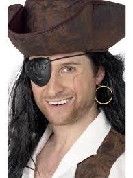 Повязка на глаз пиратская пластик