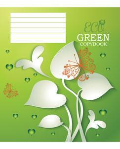 Зошит в клітинку Мрії збуваються GREEN  24 аркуші
