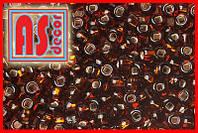 Бисер Чехия 17140  - 50 грамм (тёмно-коричневый королевский)