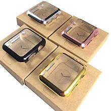 Накладка пластик for Apple Watch One series 38mm  (rose gold)