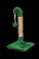 Когтеточка (дряпка) Мур-Мяу Гном 37 х 37 х 77 см Зеленая (68974038gr)