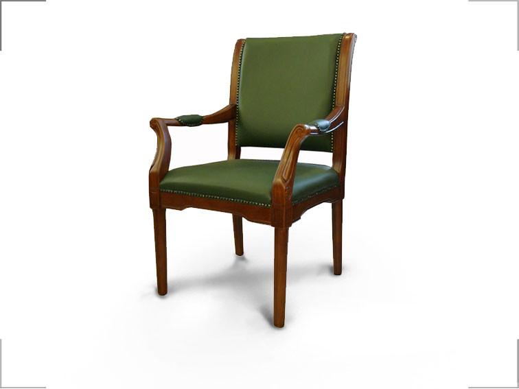 Кресло Венеция CF Лесной орех, Кожа Люкс Комбинированная Зеленая (Диал ТМ)