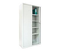Канцелярский шкаф с роллетными дверьми ШКГ-10 р, шкаф металлический для документов Н1970*1000*455 мм