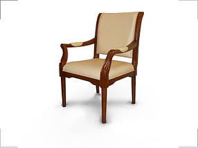 Кресло для конференций Венеция комбинированная кожа люкс Бежевая (Диал ТМ)