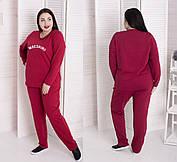 Мега комфортный и стильный спортивный костюм большого размера с разными надписями батал с 48 по 98 размер, фото 2