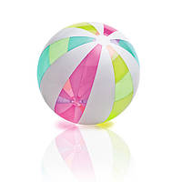 Мяч 59066 (24шт) полоски, 107см, винил, комплект для ремонта, в кульке, 25-25-3см