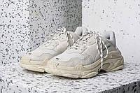 Кроссовки Женские Balenciaga Triple-S Sneaker White/Baige Белые