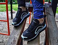 Женские кроссовки Nike AirMax 720 (black/черный)