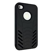 Накладка силикон с пластик бортом Caseology Batman for Apple iPhone 4/4S (black)