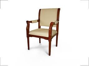 Кресло для конференций Версаль комбинированная кожа люкс Бежевая (Диал ТМ)