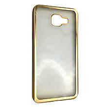 Чехол-накладка DK-Case силикон с хром бортами для Samsung A710 (gold)