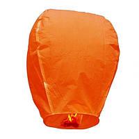 Небесные летающие китайские фонарики желаний (Купол 80х35 см)- Оранжевый